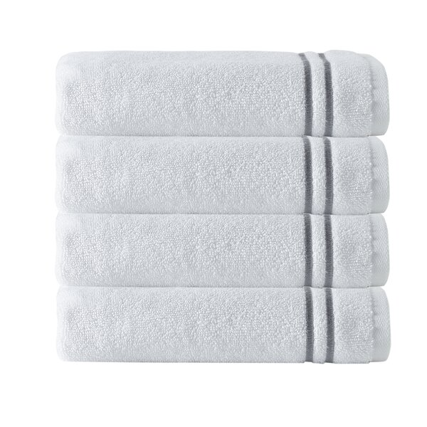 Exmore 4 Piece 100% Cotton Hand Towel Set (Set of
